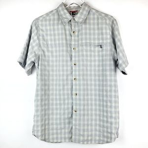 Men's North Face short sleeve button down S